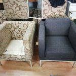 Obnova fotelja - pred in potem